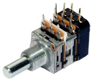 Bilde av MEC potmeter tone  2 x 220K med DPDT switch