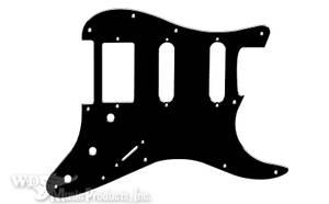 Bilde av Stratocaster HSS - svart matt - for Floyd Rose